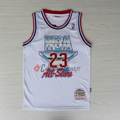 Hot- Maglia NBA 1992 All Star NO.23 Michael Jordan Bianco