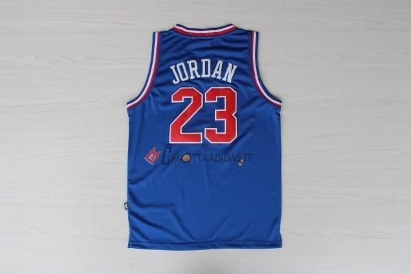 Hot- Maglia NBA 1992 All Star NO.23 Michael Jordan Blu