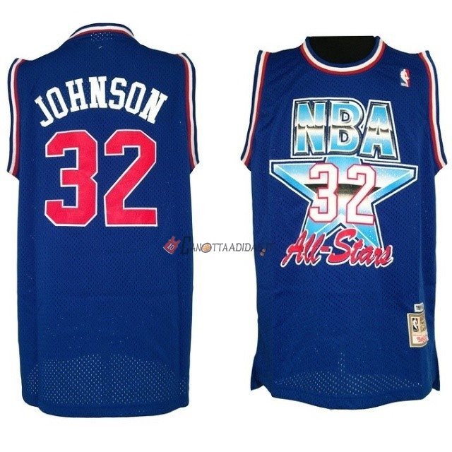 Hot- Maglia NBA 1992 All Star NO.32 Joe Johnson Blu