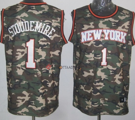 Hot- Maglia NBA 2013 Camouflage Moda NO.1 Stoudemire