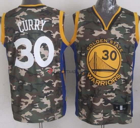 Hot- Maglia NBA 2013 Camouflage Moda NO.30 Curry