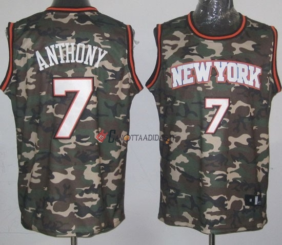 Hot- Maglia NBA 2013 Camouflage Moda NO.7 Anthony