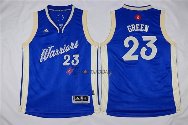 Hot- Maglia NBA Bambino 2015 Natale Golden State Warriors NO.23 Draymond Green Blu