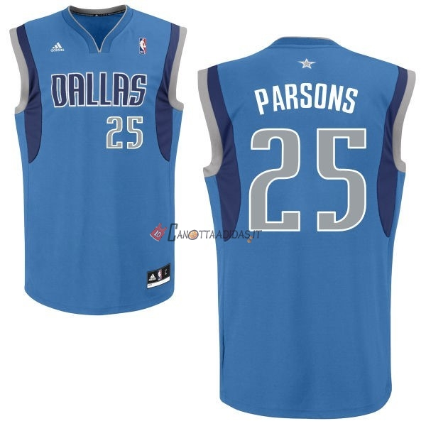 Hot- Maglia NBA Dallas Mavericks NO.25 Chandler Parsons Blu