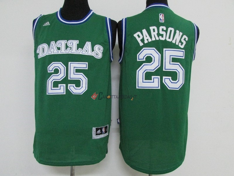 Hot- Maglia NBA Dallas Mavericks NO.25 Chandler Parsons Verde