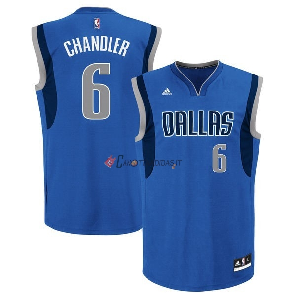 Hot- Maglia NBA Dallas Mavericks NO.6 Tyson Chandler Blu