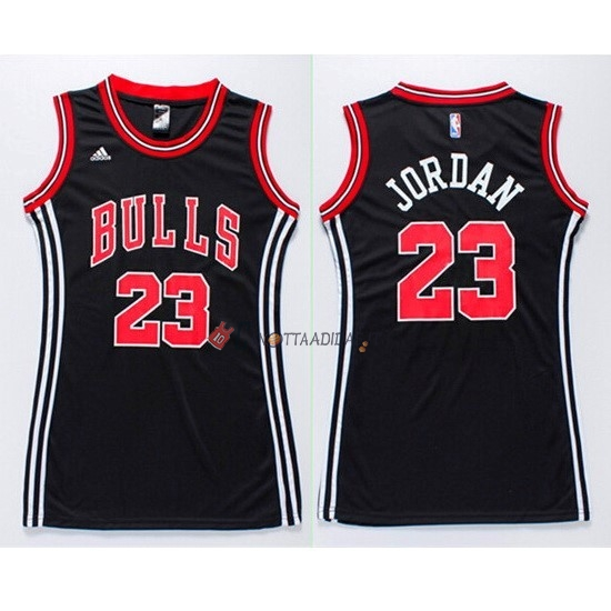 Hot- Maglia NBA Donna Chicago Bulls NO.23 Michael Jordan Nero