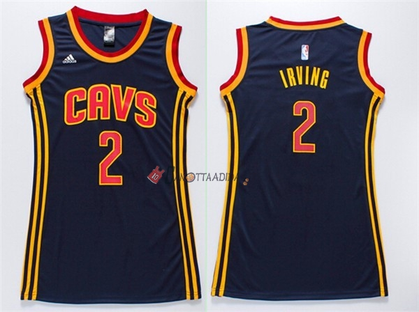 Hot- Maglia NBA Donna Cleveland Cavaliers NO.2 Kyrie Irving Blu