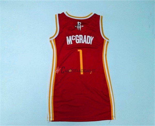 Hot- Maglia NBA Donna Houston Rockets NO.1 Tracy McGrady Rosso
