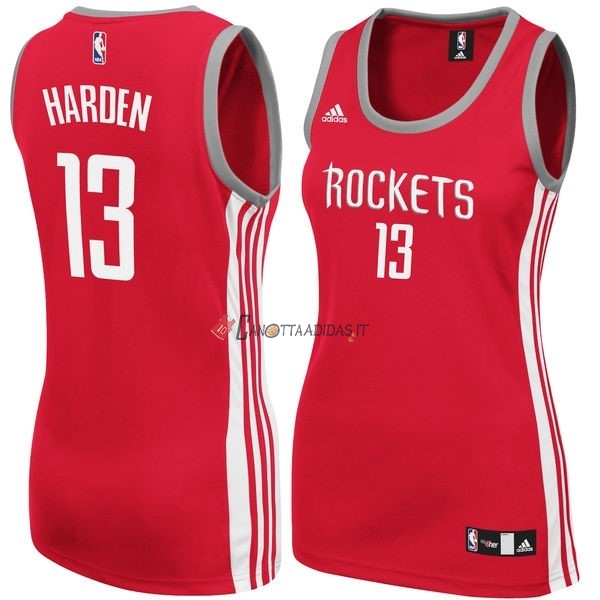 Hot- Maglia NBA Donna Houston Rockets NO.13 James Harden Rosso