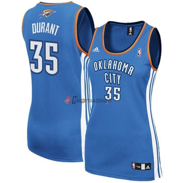 Hot- Maglia NBA Donna Oklahoma City Thunder NO.35 Kevin Durant Blu