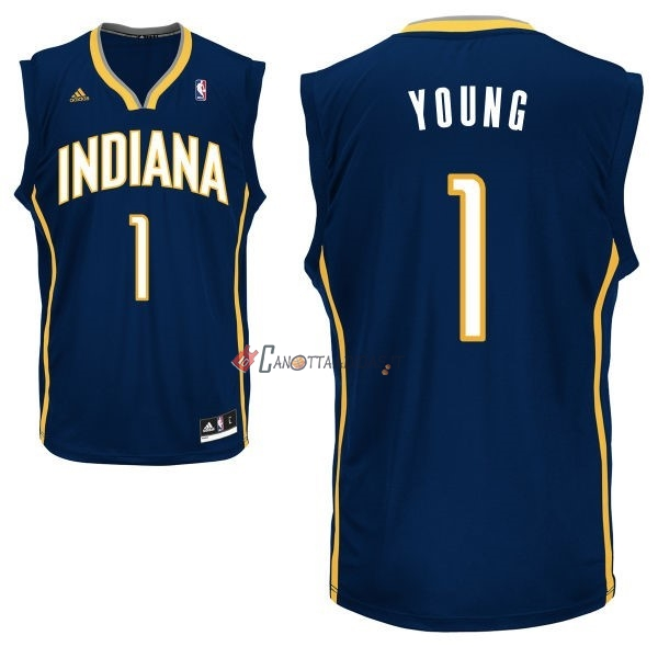 Hot- Maglia NBA Indiana Pacers NO.1 Lance Stephenson Nero