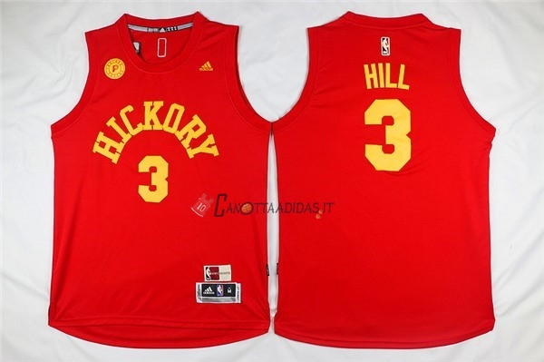 Hot- Maglia NBA Indiana Pacers NO.3 George Hill Rosso