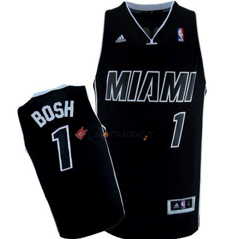 Hot- Maglia NBA Miami Heat NO.1 Chris Bosh Nero