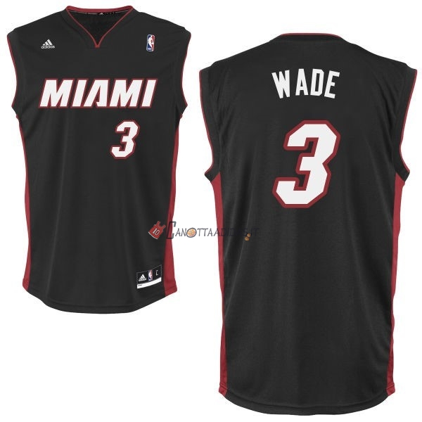 Hot- Maglia NBA Miami Heat NO.3 Dwyane Wade Miami Nero