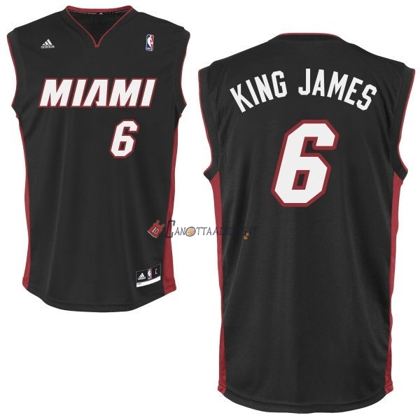 Hot- Maglia NBA Miami Heat NO.6 King James Nero