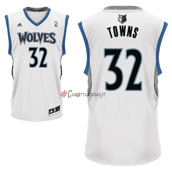 Hot- Maglia NBA Minnesota Timberwolves NO.32 Karl Anthony Towns Bianco