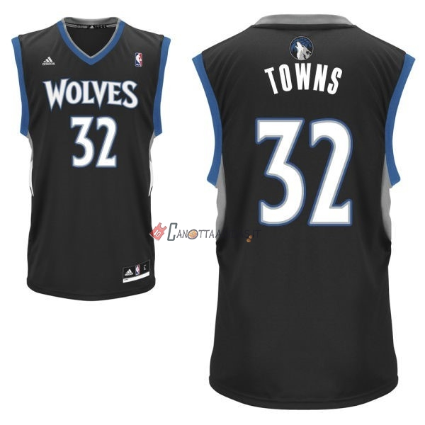 Hot- Maglia NBA Minnesota Timberwolves NO.32 Karl Anthony Towns Nero