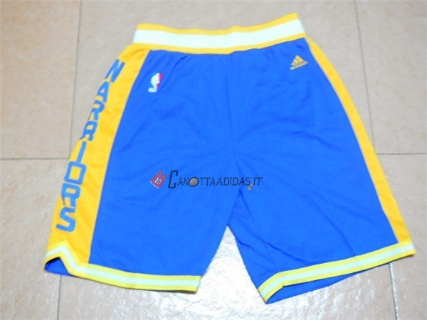 Hot- Pantaloni Basket Golden State Warriors Retro Blu