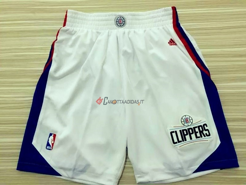 Hot- Pantaloni Basket Los Angeles Clippers Bianco