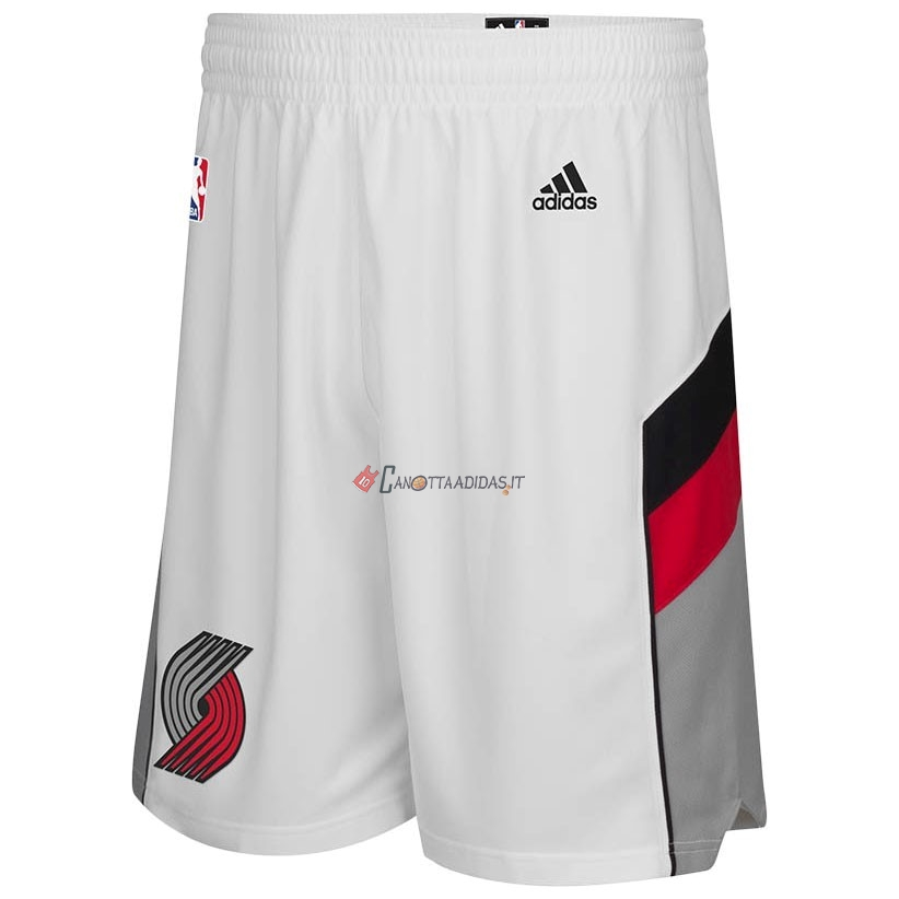 Hot- Pantaloni Basket Portland Trail Blazers Bianco