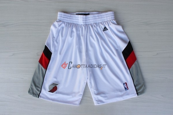 Hot- Pantaloni Basket Portland Trail Blazers Retro Bianco