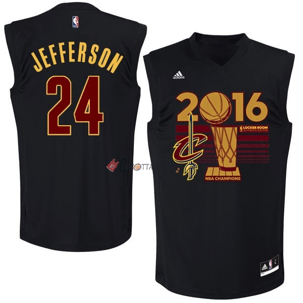 Hot- Maglia NBA Cleveland Cavaliers 2016 Campionato Finali NO.24 Richard Jefferson Nero