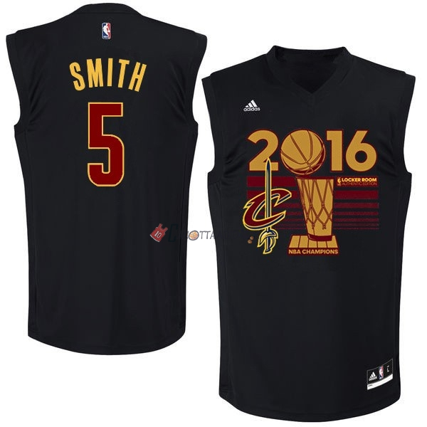 Hot- Maglia NBA Cleveland Cavaliers 2016 Campionato Finali NO.5 JR.Smith Nero